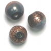 Glass Beads 10mm Round Two Tone Bronze/Grey